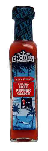 Encona West Indian Hot Pepper Sauce, 142ml