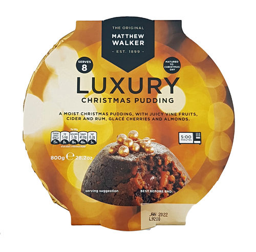 Matthew Walker Luxury Christmas Pudding, Weihnachtskuchen, 800g