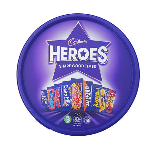 Cadbury Heroes Tub, individually wrapped mini chocolates 600g