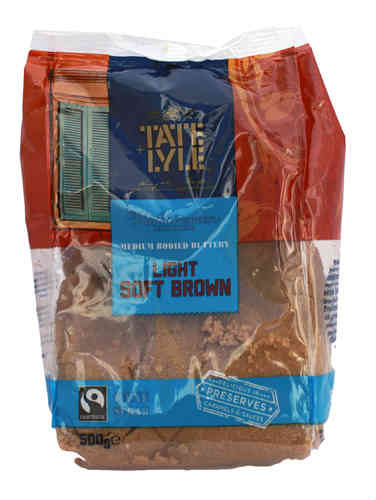 Tate & Lyle Light Brown Soft Cane Sugar, Hellbrauner Zucker, 500g