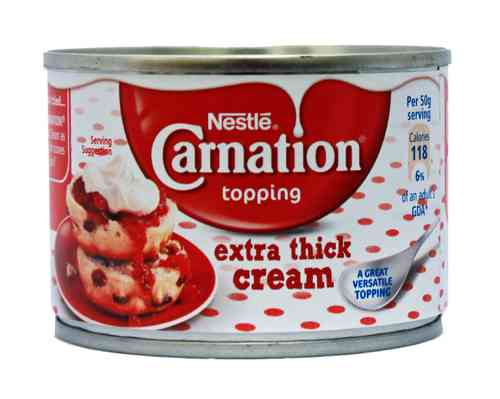 Nestle Carnation Extra Thick Cream, Real Dairy Cream, 170g