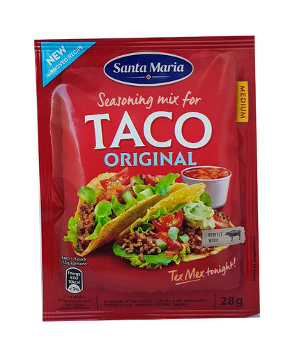 Santa Maria Original Medium Spicy Seasoning Mix for Taco, 28g