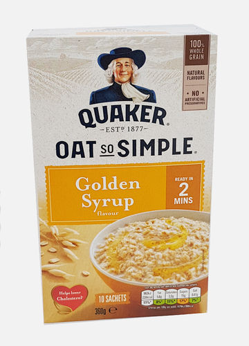 Quaker Oat So Simple Golden Syrup, Porridge mit Sirupgeschmack 360g