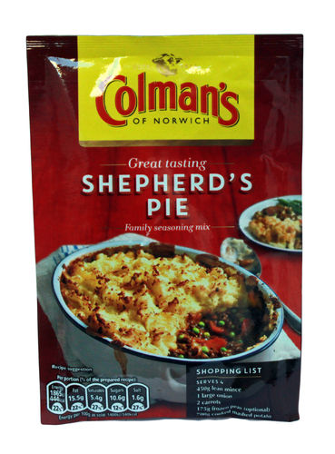 Colman's Shepherd's Pie Seasoning Mix, Gewürzmischung, 50g