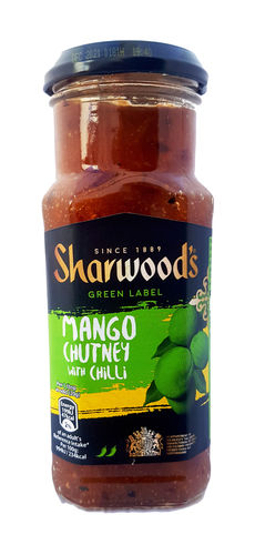 Sharwood's Green Label Mango Chutney mit Chilli, 360g