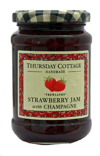 Thursday Cottage Strawberry Jam with Champagne, 340g