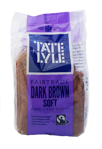 Tate & Lyle Dark Brown Soft Cane Sugar, 500g