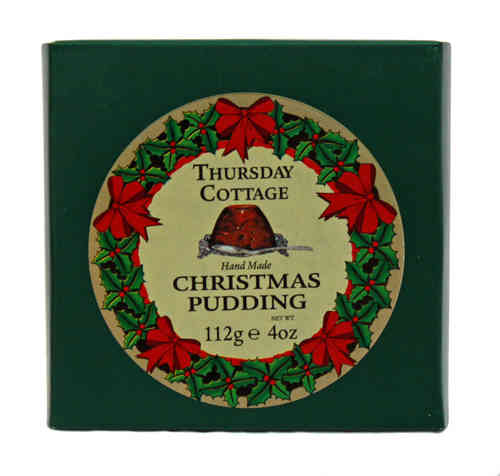 Thursday Cottage Handmade Christmas Pudding, Weihnachtspudding, 112g