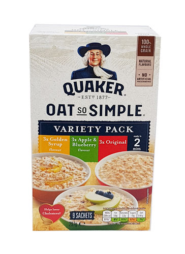 Quaker Oats Oat So Simple Variety Porridge, Haferflocken, 9 x 33g