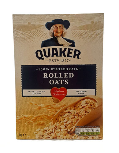 Quaker Oats100% Wholegrain Rolled Oats, 1 Kg