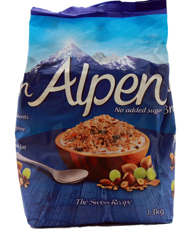 Alpen Swiss Recipe Muesli No Added Sugar, 1,3kg