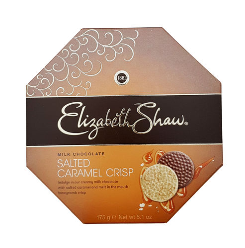 Elizabeth Shaw Milk Chocolate Salted Caramel Crisp Chocolates, 175g