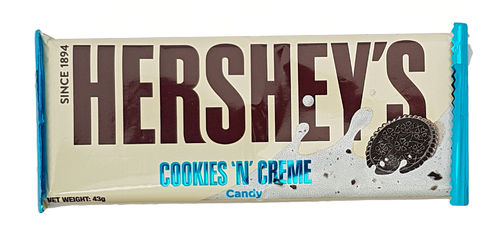 Hersheys Cookies & Cream Confectionary Bar, 43g