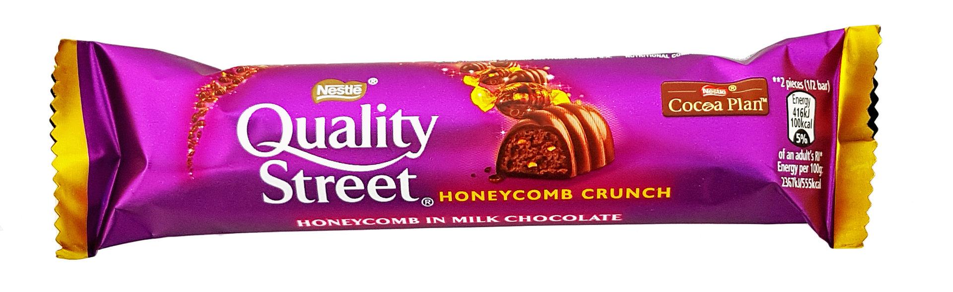 Nestle Quality Street Honeycomb Crunch Chocolate Bar, 35g - Piece ...