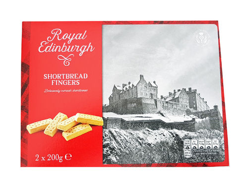 Royal Edinburgh Thin Shortgread Fingers, Schottische Butterkekse,  400G