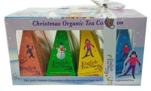 English Tea Shop Organic Christmas Tea Collection, Teebeutel, 12 x 2g