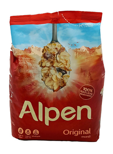 Alpen Original Muesli with Raisins, Hazelnuts and Almonds, 1,3g