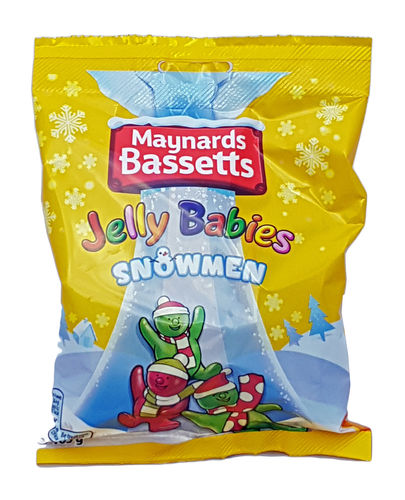 Maynards Bassetts Jelly Babies Snowmen, 165g
