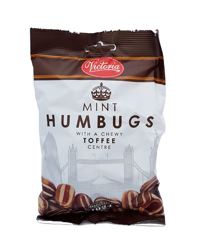 Victoria Mint Humbugs with chewy toffee centre, 250g