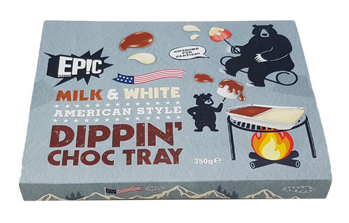 Epic Milk & White American Style Dippin' Chocolate Tray 350g