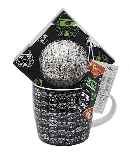 Kinnerton Stormtrooper Glow in the Dark Mug & Milk Chocolate Orb 50g