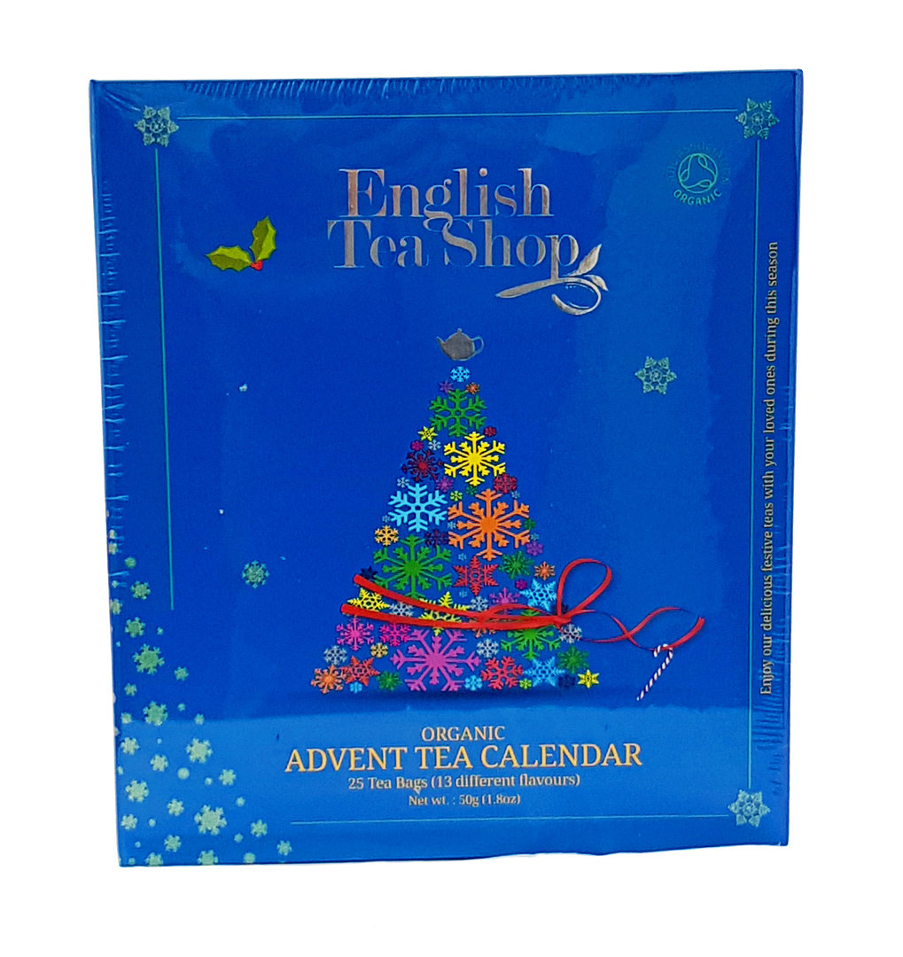 english tea shop organic book style blue advent calendar. Black Bedroom Furniture Sets. Home Design Ideas