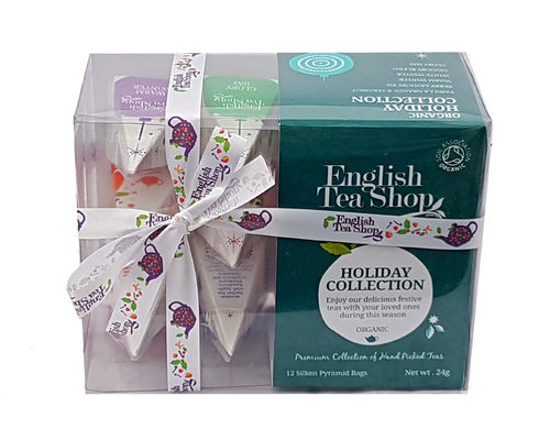 English Tea Shop Green Holiday Collection Prism Teabags, 12 Pack, 24g