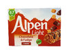 Alpen Light Chocolate & Fudge Cereal Bar, Müsliriegel mit dunkler Schokolade 5 x 19g