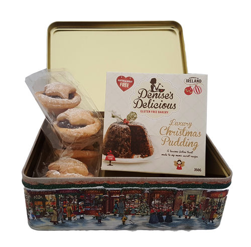 Denise's Gluten Free Christmas Pudding (350g) & Mince Pies (220g) in Gift Tin