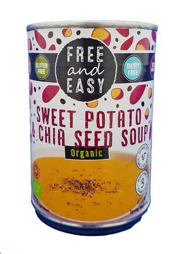 Free and Easy Organic Sweet Potato & Chia Seed Soup 400g