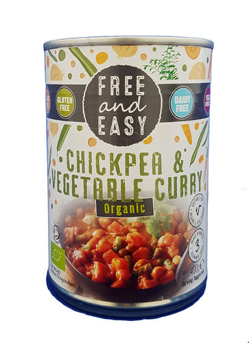 Free and Easy Organic Chickpea & Vegetable Curry 400g , Gluten Free & Vegan