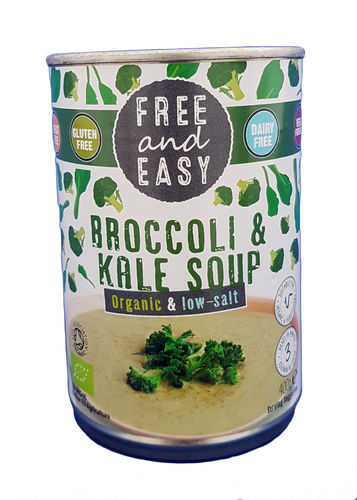 Free and Easy Organic & Low Salt Broccoli & Kale Soup 400g