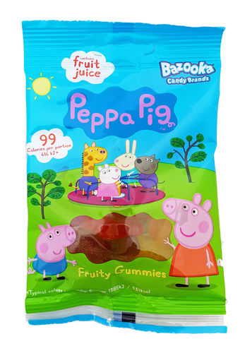 Bazooka Peppa Pig Fruity Gummies 45g, Gummibärchen